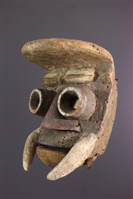 Guéré masker met een mobiele kaak