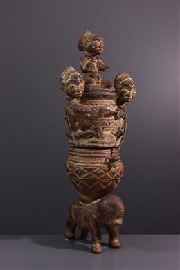 Tribale kunst - Dubbele figuratieve snit Luba Kiteya
