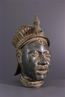 Ifé Yoruba herdenkingshoofd in brons