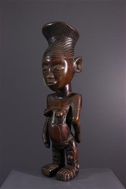 Tribale kunst - Vrouwelijk Mangbetu beeldje