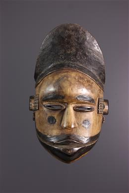 Ogoni masker met scharnierende kaak