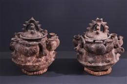 Paar Fon aardewerk